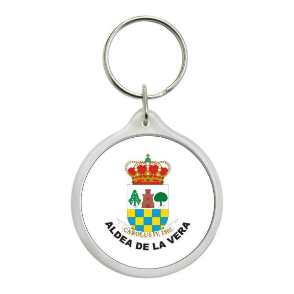 llavero redondo escudo heraldico aldea de la vera