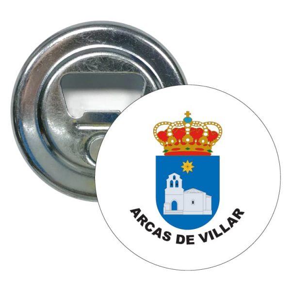 abridor redondo escudo heraldico arcas de villar