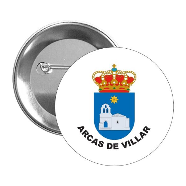 chapa escudo heraldico arcas de villar