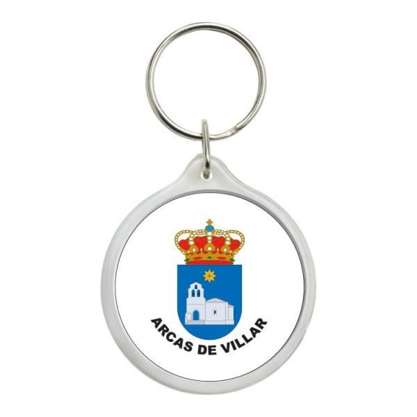 llavero redondo escudo heraldico arcas de villar