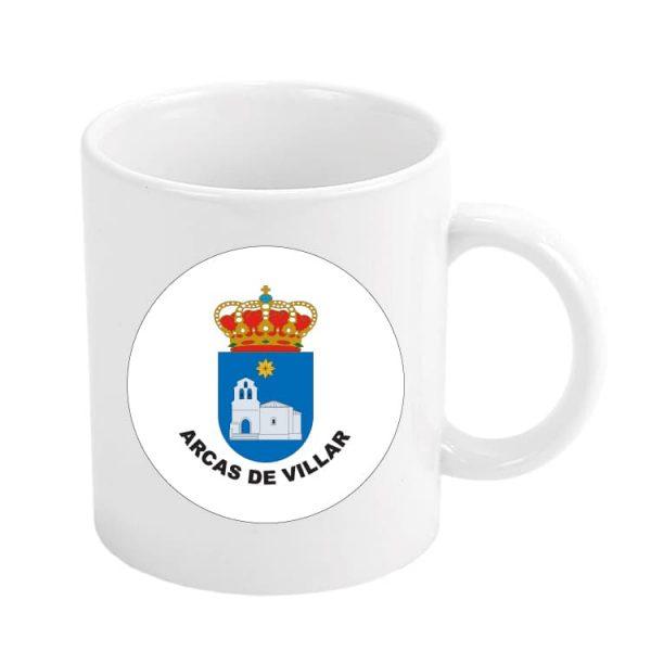 taza escudo heraldico arcas de villar