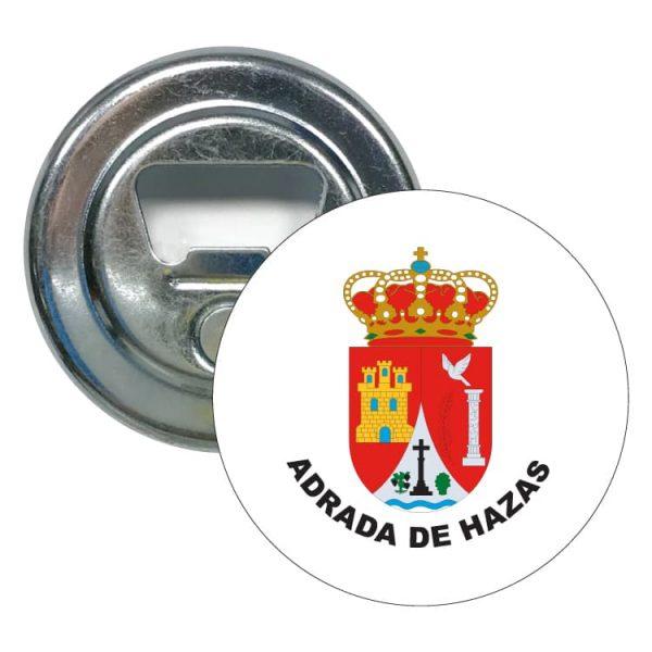 abridor redondo escudo heraldico adrada de hazas