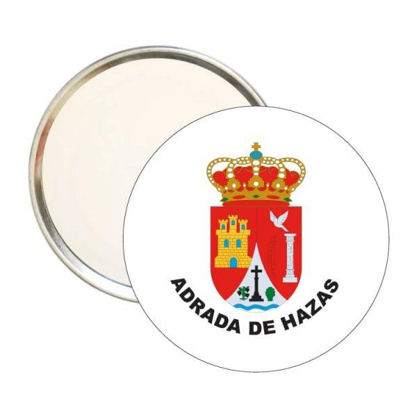 espejo redondo escudo heraldico adrada de hazas