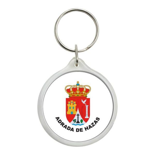 llavero redondo escudo heraldico adrada de hazas