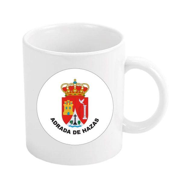 taza escudo heraldico adrada de hazas