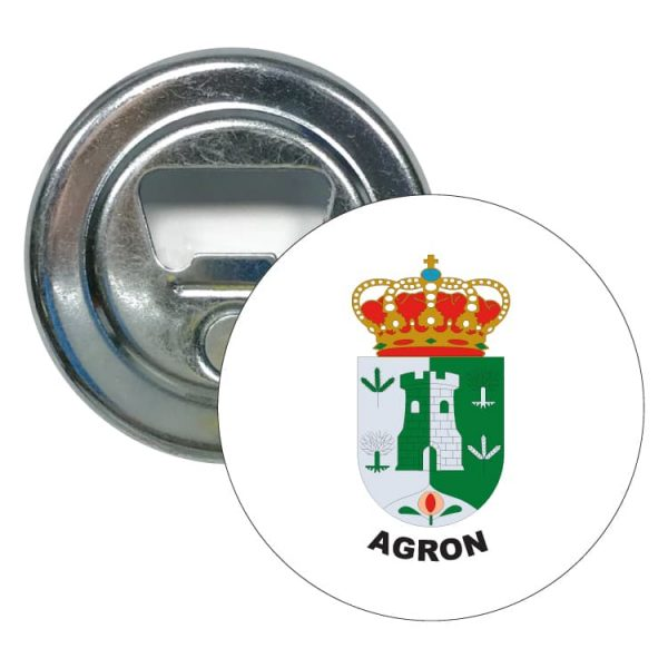 abridor redondo escudo heraldico agron