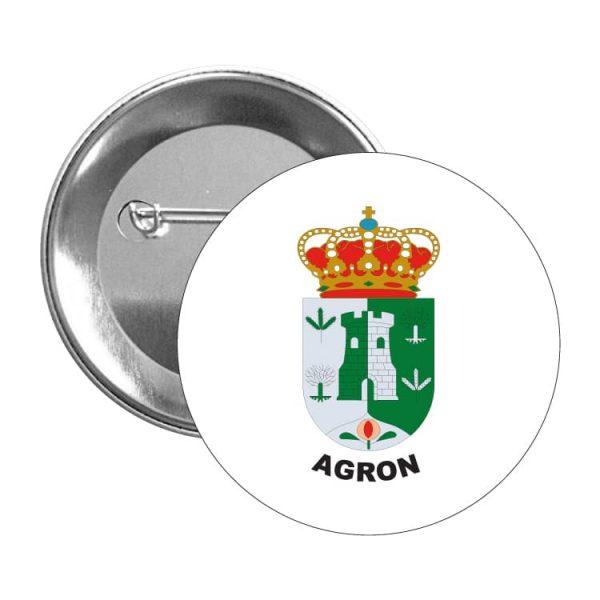 chapa escudo heraldico agron
