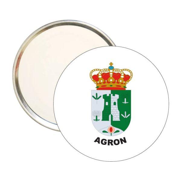 espejo redondo escudo heraldico agron