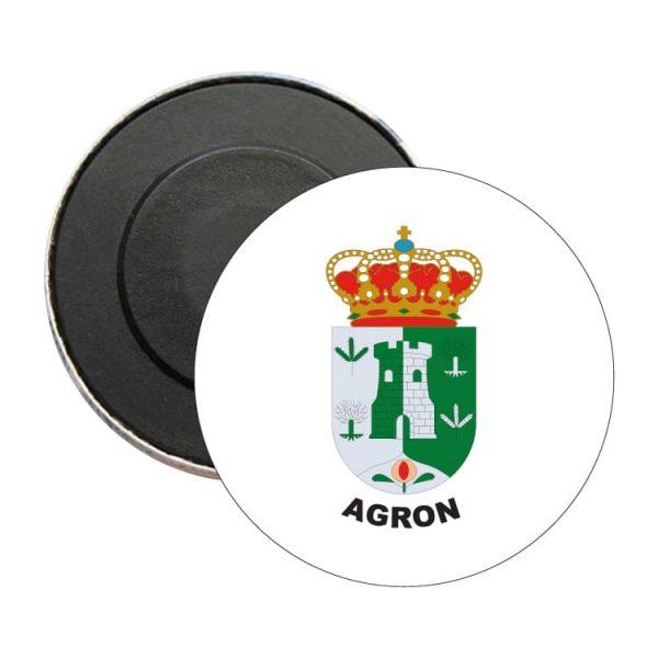 iman redondo escudo heraldico agron