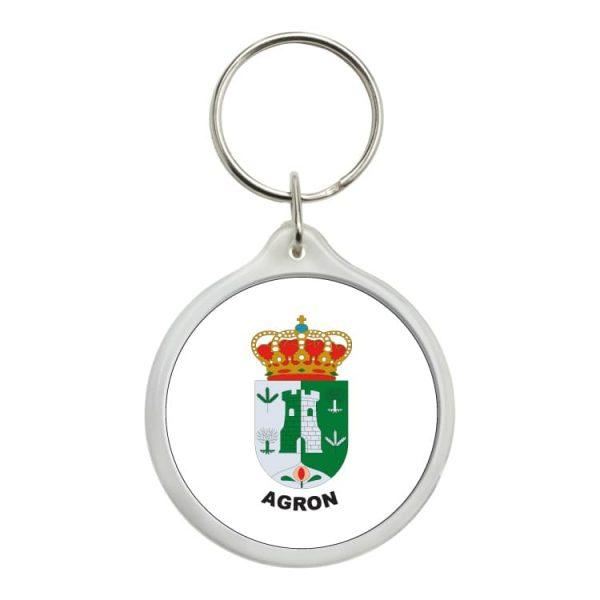 llavero redondo escudo heraldico agron