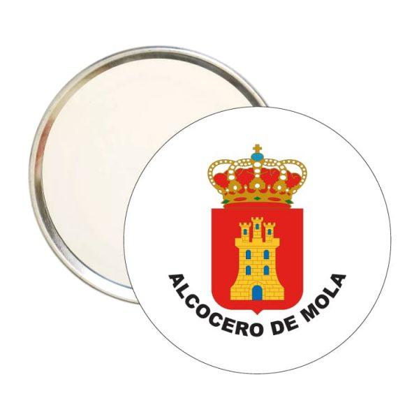 espejo redondo escudo heraldico alcocero de mola
