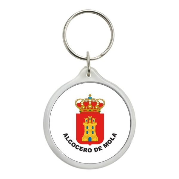 llavero redondo escudo heraldico alcocero de mola
