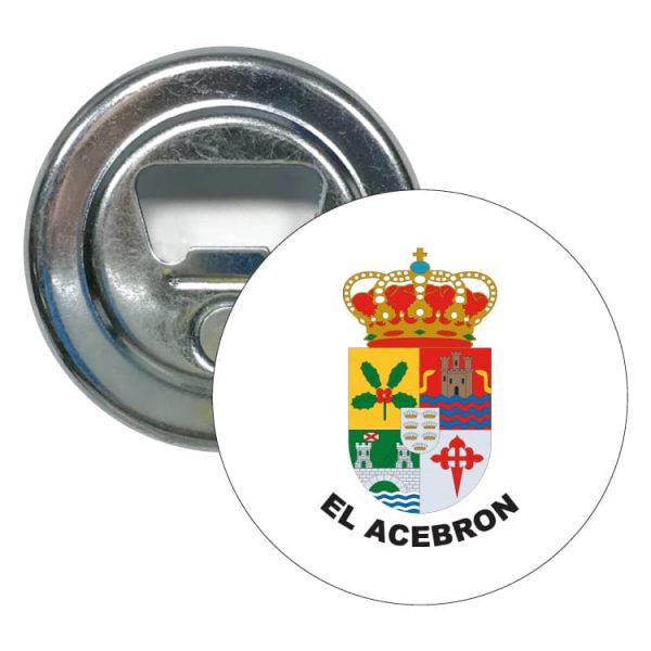 abridor redondo escudo heraldico el acebron