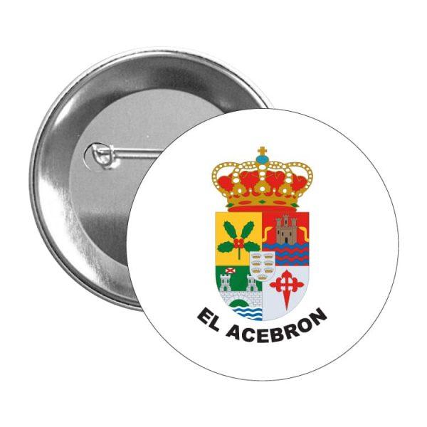 chapa escudo heraldico el acebron