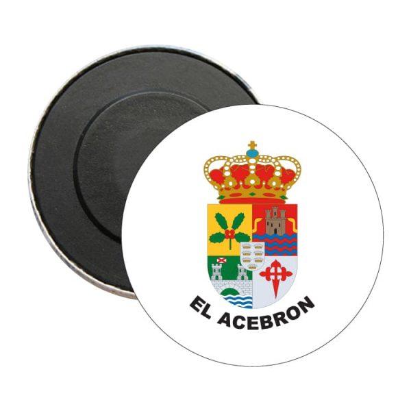 iman redondo escudo heraldico el acebron