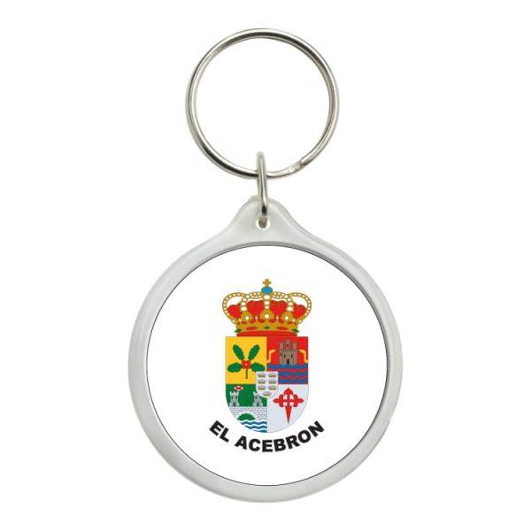 llavero redondo escudo heraldico el acebron