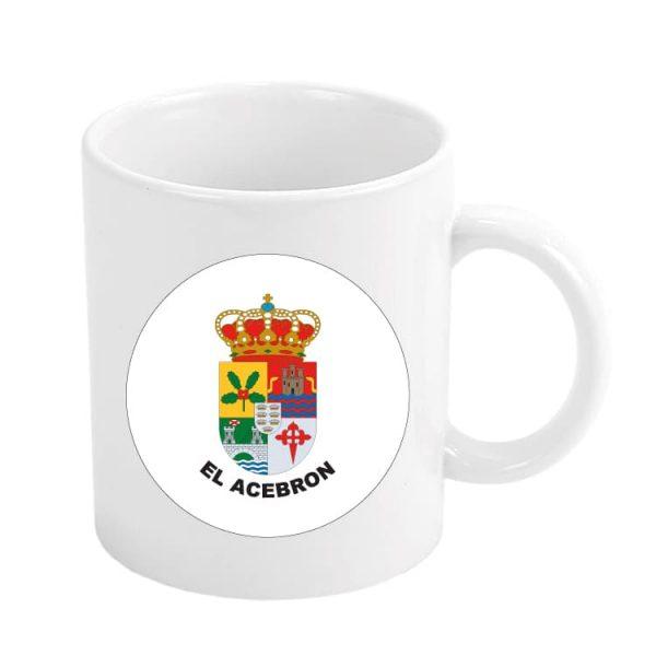 taza escudo heraldico el acebron