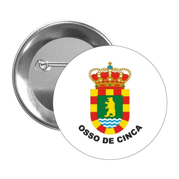 chapa escudo heraldico osso de cinca