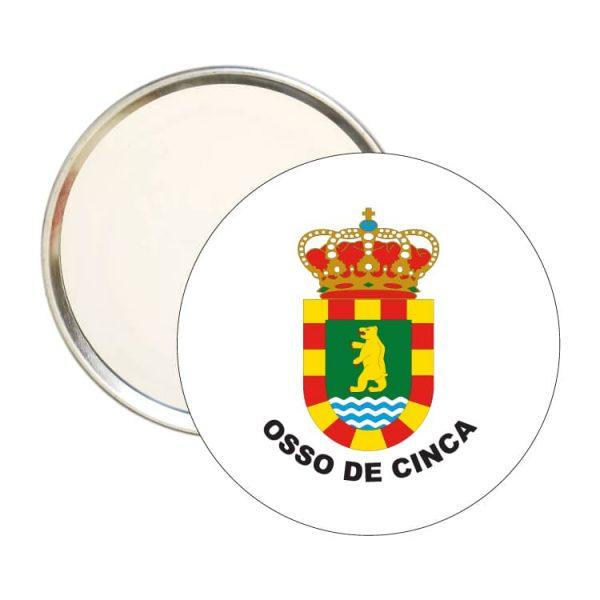 espejo redondo escudo heraldico osso de cinca