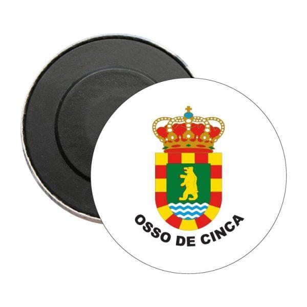 iman redondo escudo heraldico osso de cinca