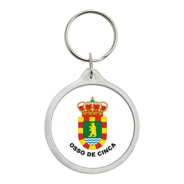 llavero redondo escudo heraldico osso de cinca