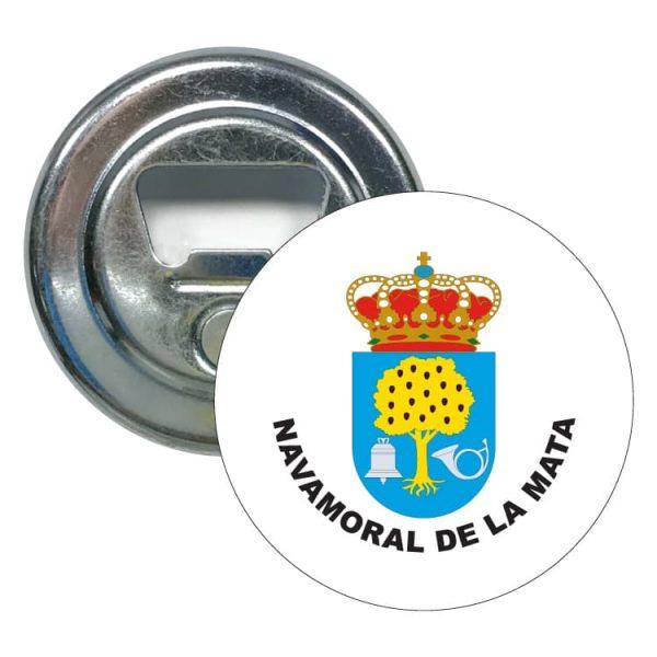 abridor redondo escudo heraldico navamoral de la mata