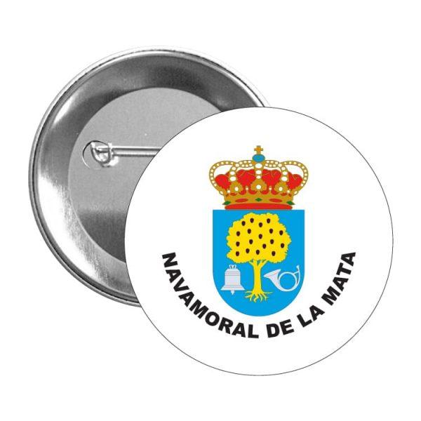 chapa escudo heraldico navamoral de la mata