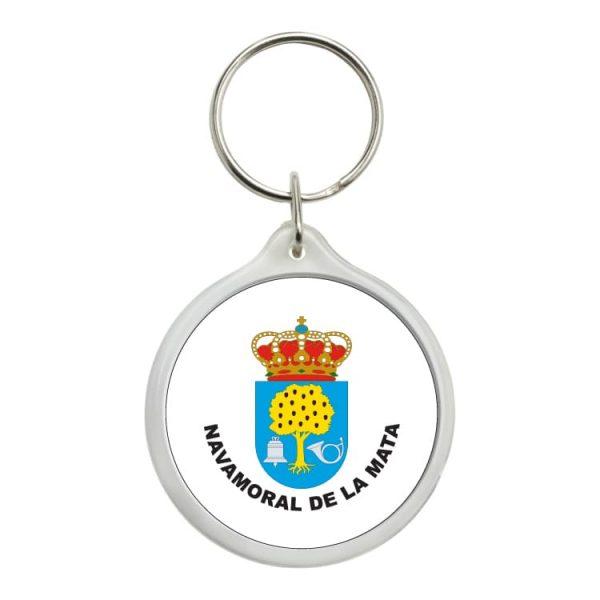 llavero redondo escudo heraldico navamoral de la mata