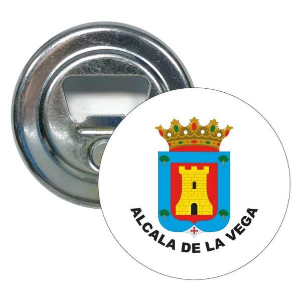 abridor redondo escudo heraldico alcala de la vega