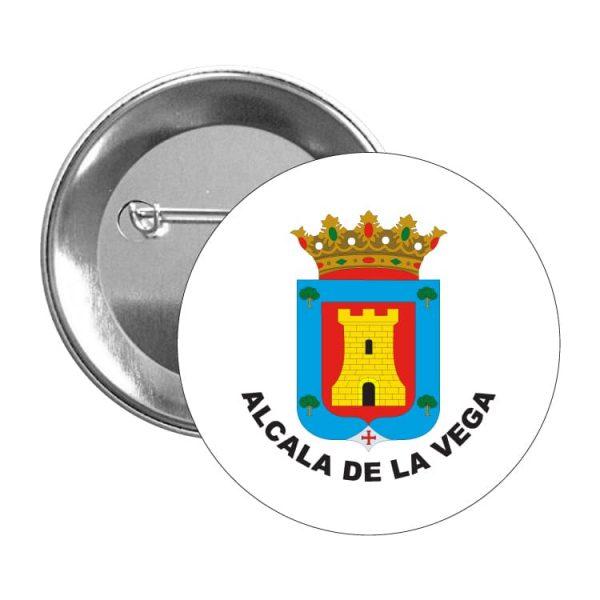 chapa escudo heraldico alcala de la vega