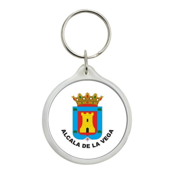 llavero redondo escudo heraldico alcala de la vega