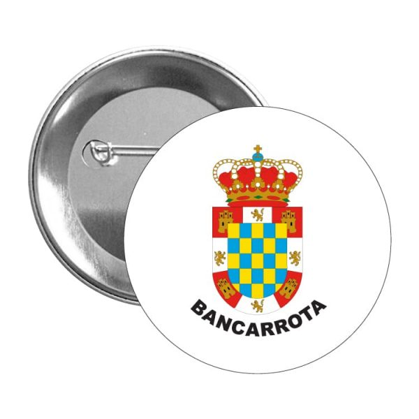 964 chapa escudo heraldico bancarrota