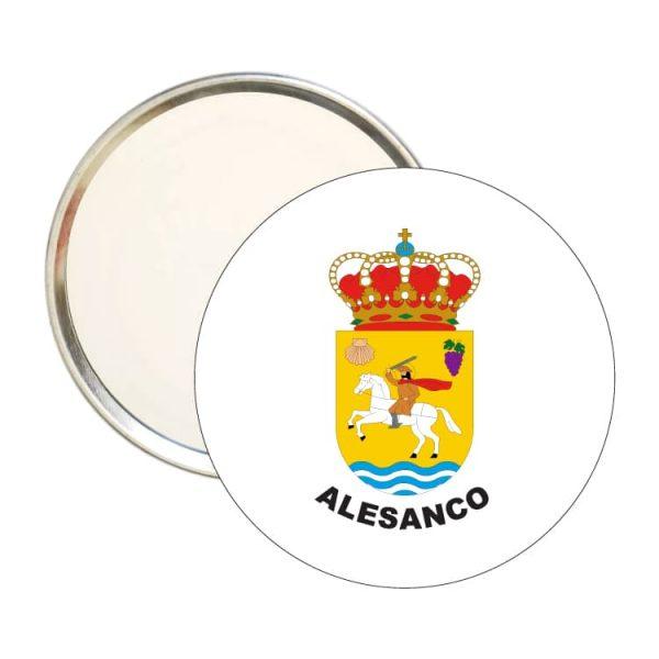 espejo redondo escudo heraldico alesanco