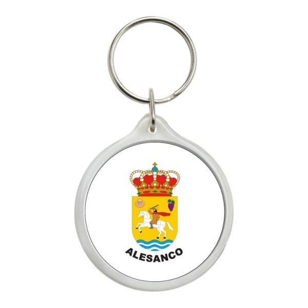 llavero redondo escudo heraldico alesanco