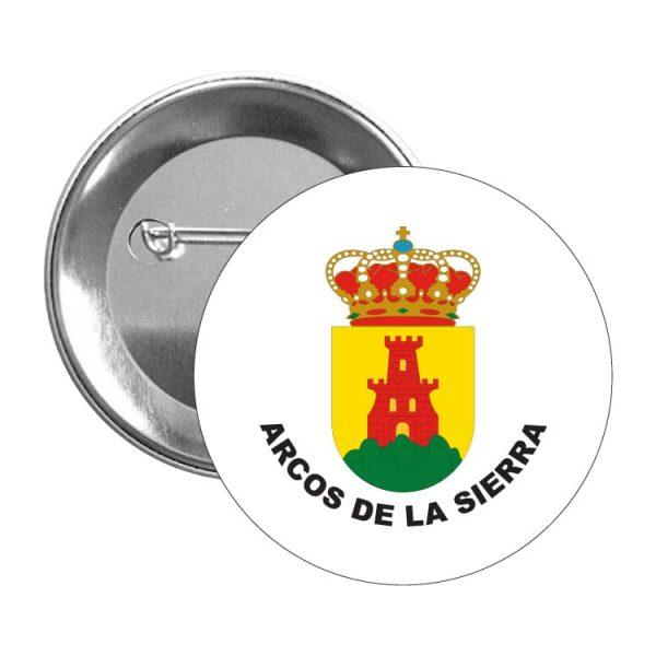 chapa escudo heraldico arcos de la sierra