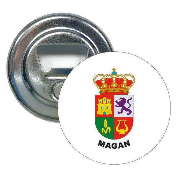abridor redondo escudo heraldico magan