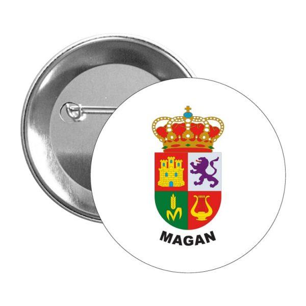 chapa escudo heraldico magan