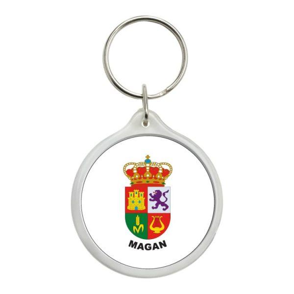 llavero redondo escudo heraldico magan