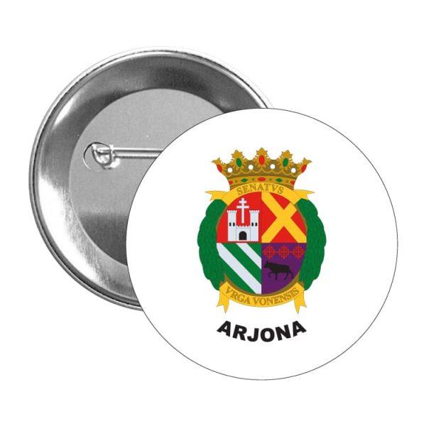 chapa escudo heraldico arjona