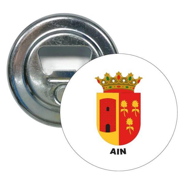 abridor redondo escudo heraldico ain