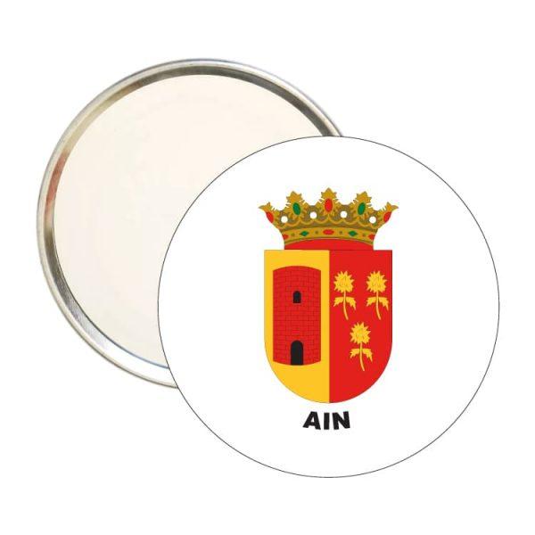 espejo redondo escudo heraldico ain