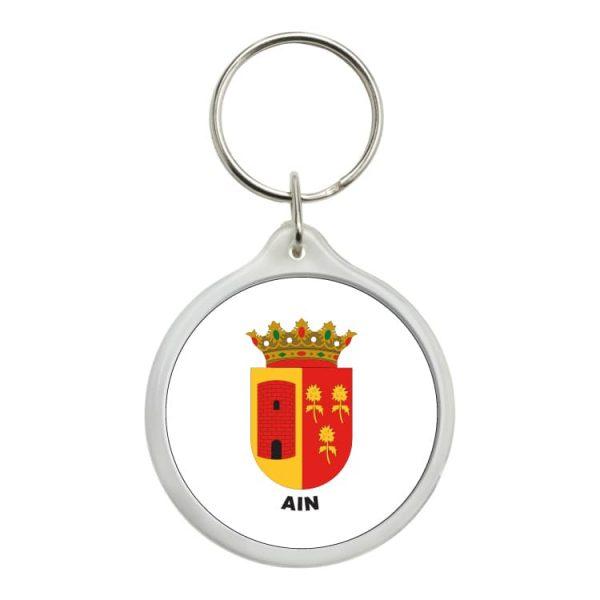llavero redondo escudo heraldico ain