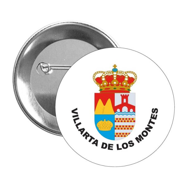 chapa escudo heraldico villarta de los montes