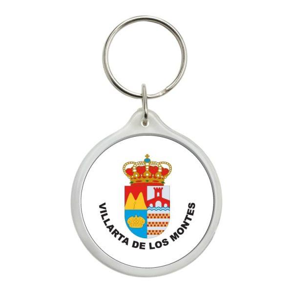 llavero redondo escudo heraldico villarta de los montes