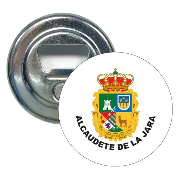 abridor redondo escudo heraldico alcaudete de la jara