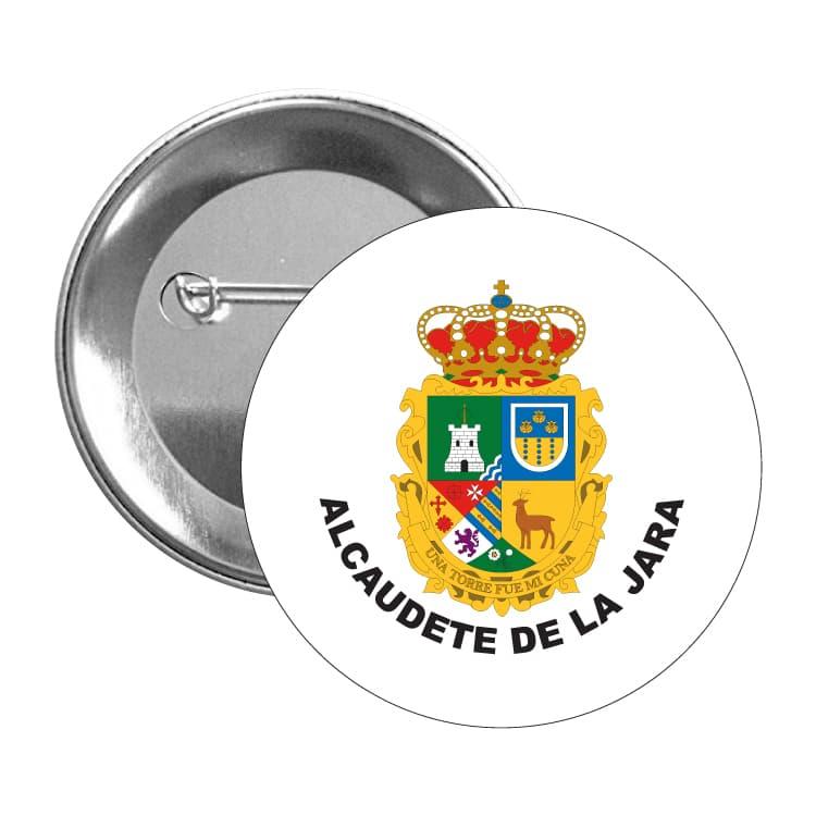 chapa escudo heraldico alcaudete de la jara