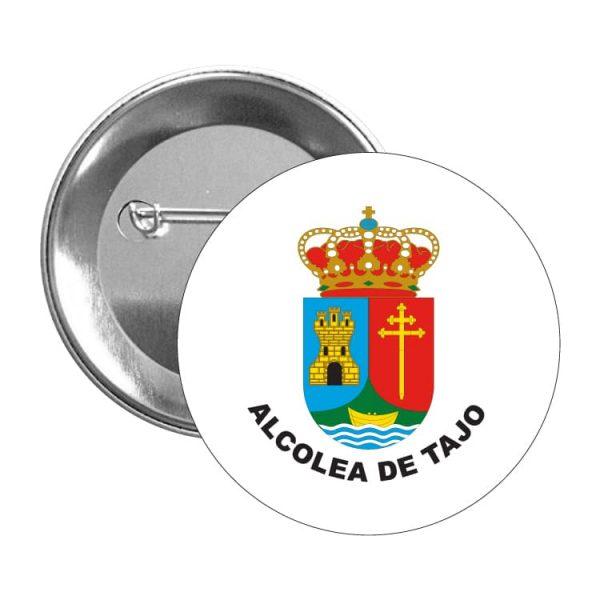 chapa escudo heraldico alcolea de tajo