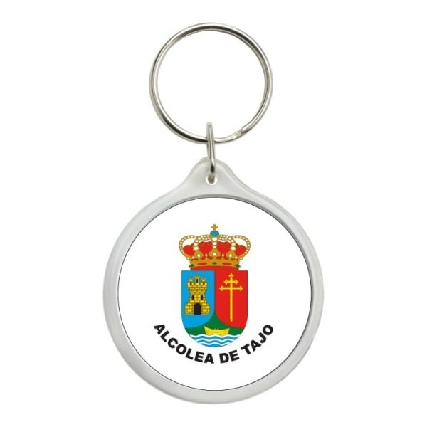 llavero redondo escudo heraldico alcolea de tajo