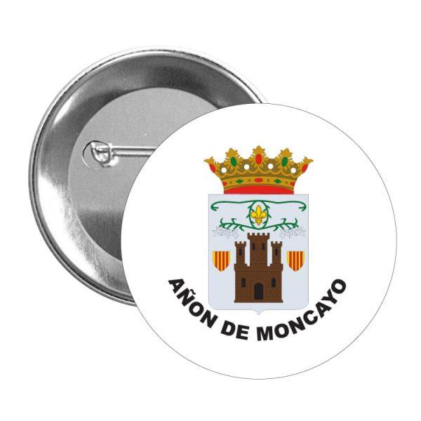 chapa escudo heraldico anon de moncayo