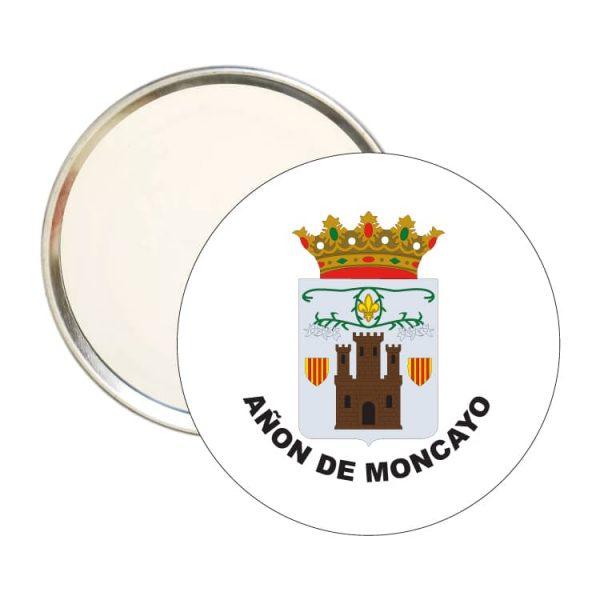 espejo redondo escudo heraldico anon de moncayo